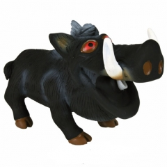 Jabalí negro con sonido original latex 18 cm. su sonido hará pasar divertidas horas a tu perro.