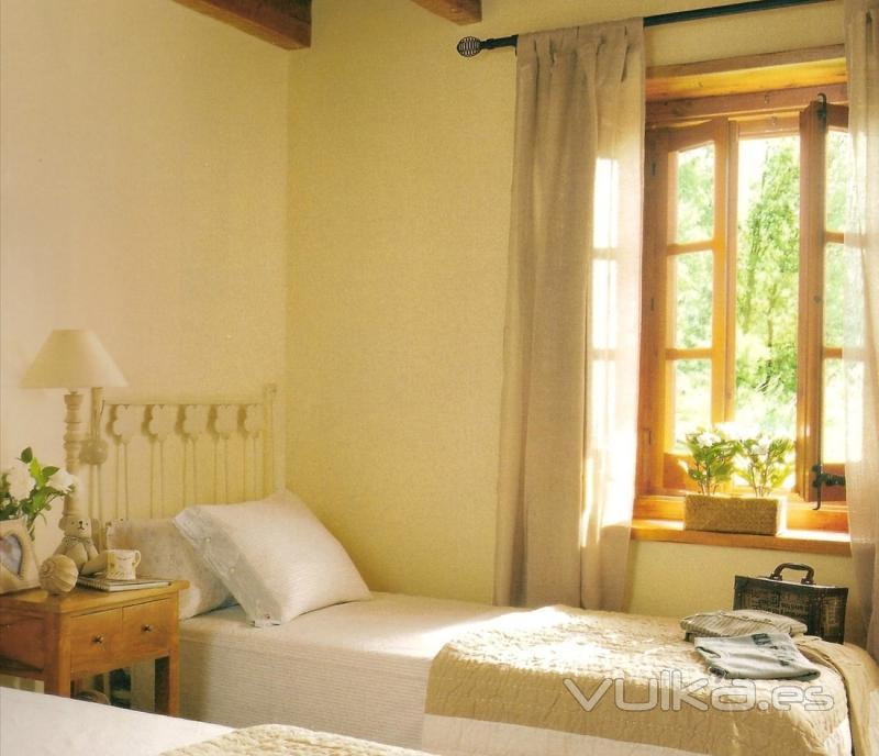 Foto ambiente dormitorio margarita color marfil - Pintura color marfil ...