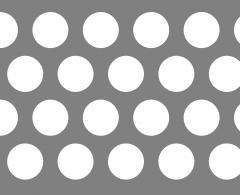 Chapa perforaci�n redonda
