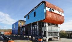 Casa y oficina modular y desmontable de rmd en torrejón del rey, guadalajara. construida a modo de mecano con ...