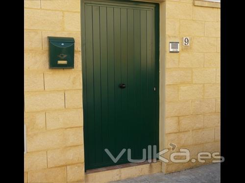 Foto abatibles y peatonales puerta de paso peatonal - Puerta de acero galvanizado ...