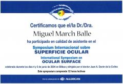 Symposium internacional sobre superficie ocular. bilbao. 2.004.