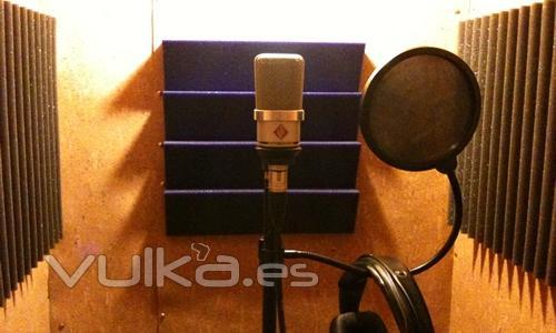 Cabina grabación voces