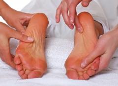 Masaje de piernas y pies