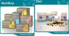 Familia de productos de nutrición de phyto-esp (nutriesp y diet)