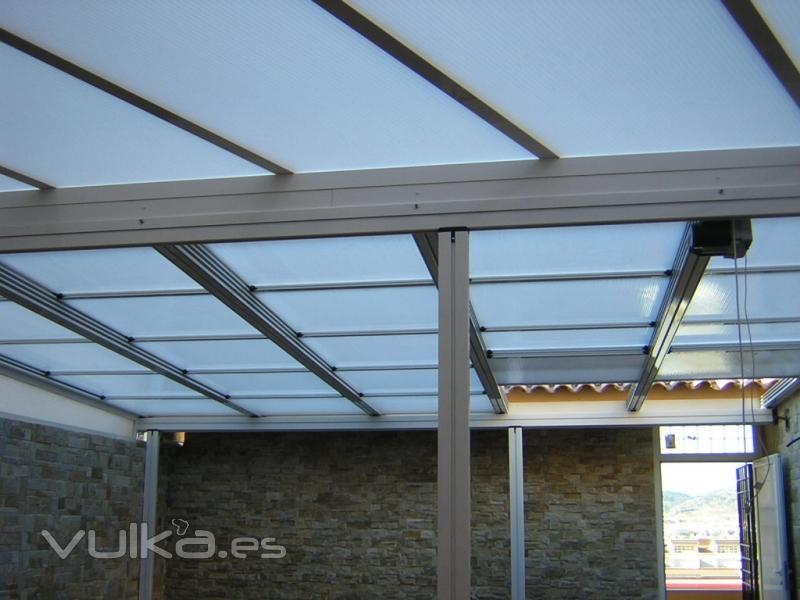 Foto cerramiento de terraza con techo corredizo - Techos de aluminio para terrazas ...
