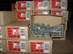 Cajas de tornillos cabeza de carro.