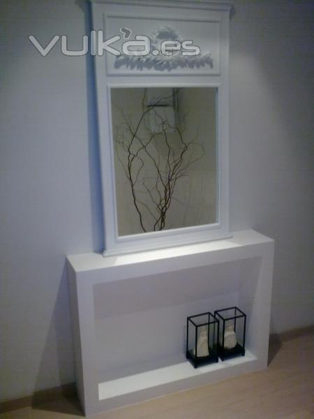 muebles de pladur(chimenea falsa)