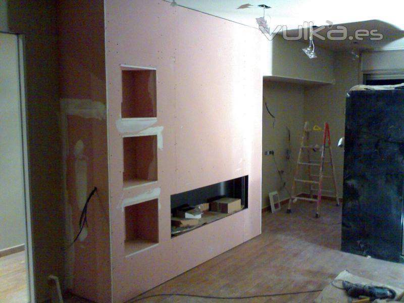 Foto muebles de pladur chimenea for Empresas instaladoras de pladur en valencia