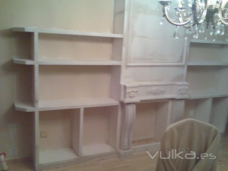 Foto mueble escayola para salon hay clientes que les - Muebles de escayola modernos ...