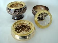 Quemadores de incienso en bronce