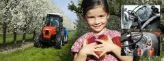 Tractor campo de frutas