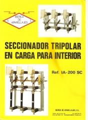 Portada catalogo seccionador tripolar a�o 1977.