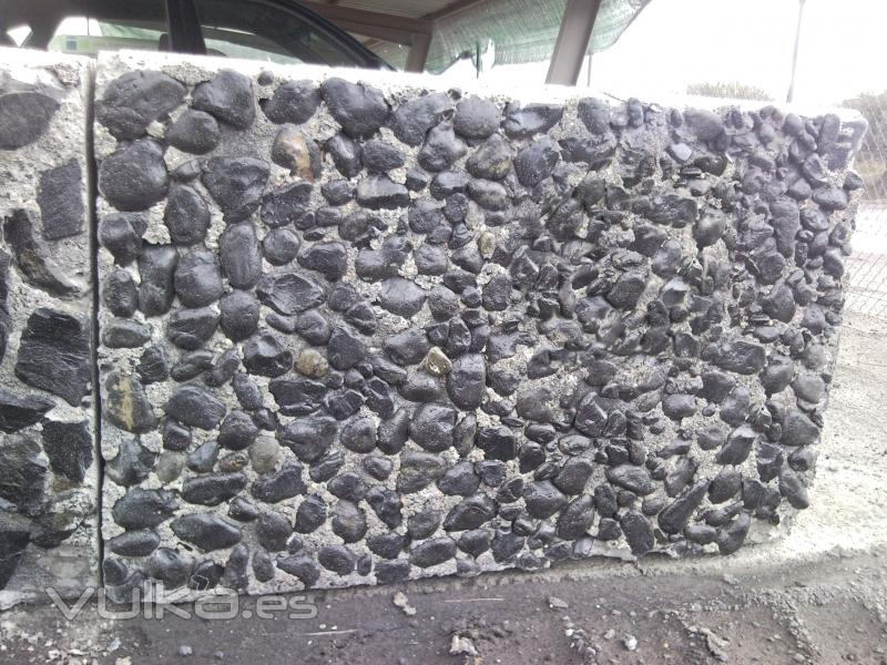 Foto cubo gavion de piedra natural negra gaviones piedra for Gaviones de piedra