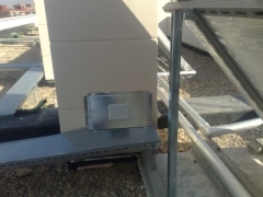 Vista salida lineas frigorificas en cubierta