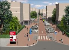 Concurso para tratamiento superficial de calle comercial en san sebastian de los reyes - madrid. arquitectos ttu