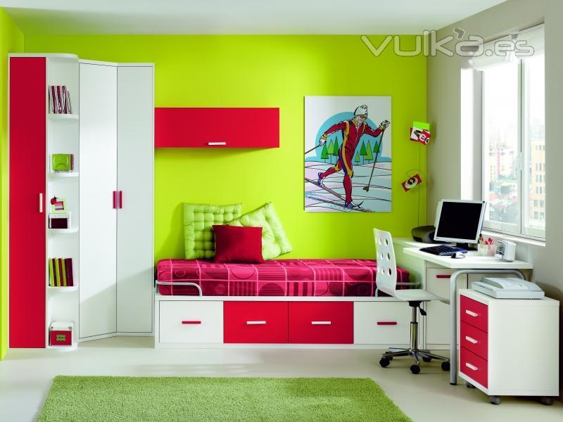 Foto todo en dormitorios juveniles varios colores for Dormitorios juveniles modernos precios