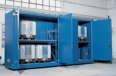 Contenedores de almacenamiento prefabricados para grgs