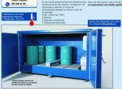 Hornos, almacenes prefabricados calefactados para bidones DENIOS