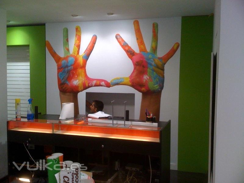 Foto decoracion con imagenes en locales - Dibujos para decoracion de interiores ...