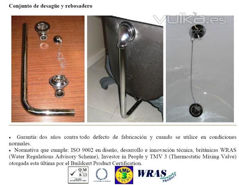 Foto desague rebosadero ba era cl sica for Desague banera