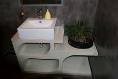 Mueble en microcemento