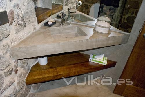 Foto lavabo de obra en microcemento - Lavabos de obra ...