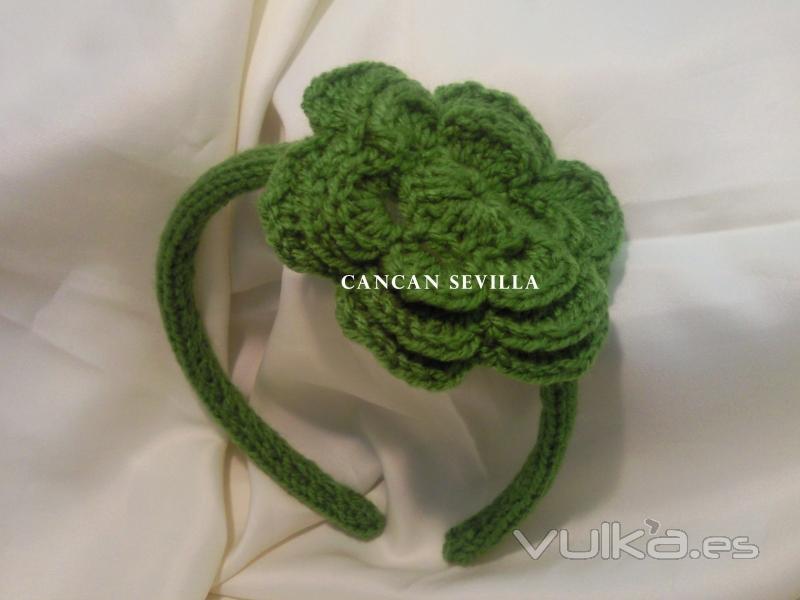 Pin foto diadema crochet on pinterest - Diademas a crochet ...