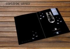 Carta de vinos y cavas. dise�o de menus, dise�o de cartas restaurante