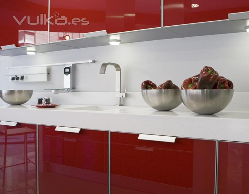 Foto muebles de cocina yelarsan 6003 detalle bancada - Bancadas de cocina ...