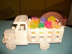 Camion jaboncitos colores-regalo comunion