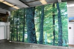 Lona impresa + bastidor  4,2x7,5 m