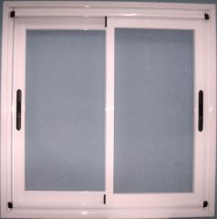 Ventana de aluminio corredera lacado blanco cristal galglas
