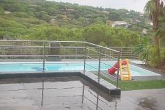 Barandilla de acero para piscina