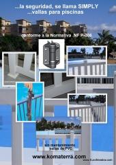 Vallas de seguridad piscinas conforme a nf p90 - 306