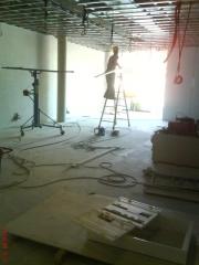 Montaje de techo y instalacion eléctrica.