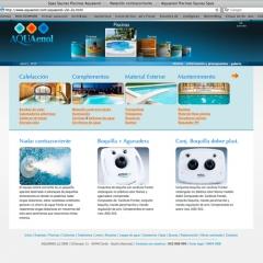 Web dise�ada para aquaenol piscinas