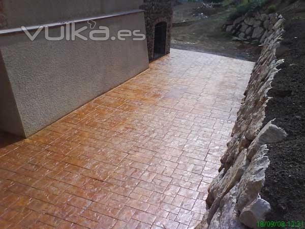 Foto pavimentos estampados en terrazas exteriores - Pavimentos terrazas exteriores ...