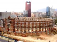 Estabilizaci�n de la fachada de la antigua plaza de toros las arenas en barcelona, con sistema superslim de ...