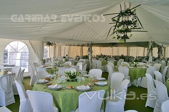 Carpas sonido mobiliario garimar eventos - Decoracion de carpas para bodas ...