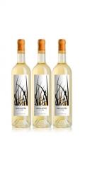 Botellas de vino regantío blanco