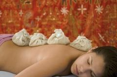 Masaje con pindas - trat. stress, dolores espalda, etc.