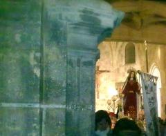 Salida de nuestra se�ora en la procesi�n de viernes santo en letur