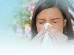 área de tratamiento de alergias