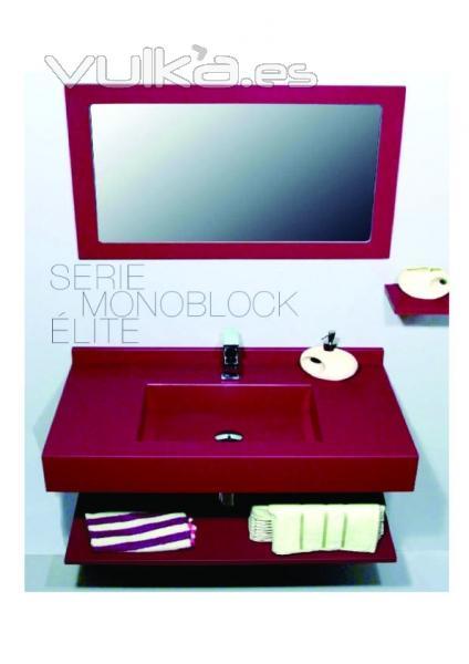 Foto encimera de ba o en silestone con labavo integrado for Encimera bano silestone