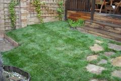 Jardin privado tras realizaci�n de trabajos.
