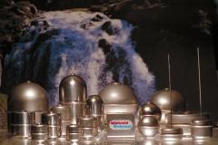 Flotadores - boyas metalicas , inox, titanio, monel hastelloy