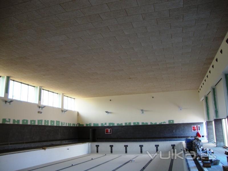 Foto techo heradesing piscina cubierta club social en pta - Techo piscina cubierta ...