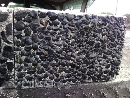 Foto gavion piedra gaviones piedra cubo gaviones for Gaviones de piedra