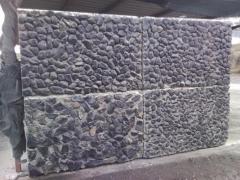 Cubo gaviones acabado con piedra natural, cerramientos, taludes